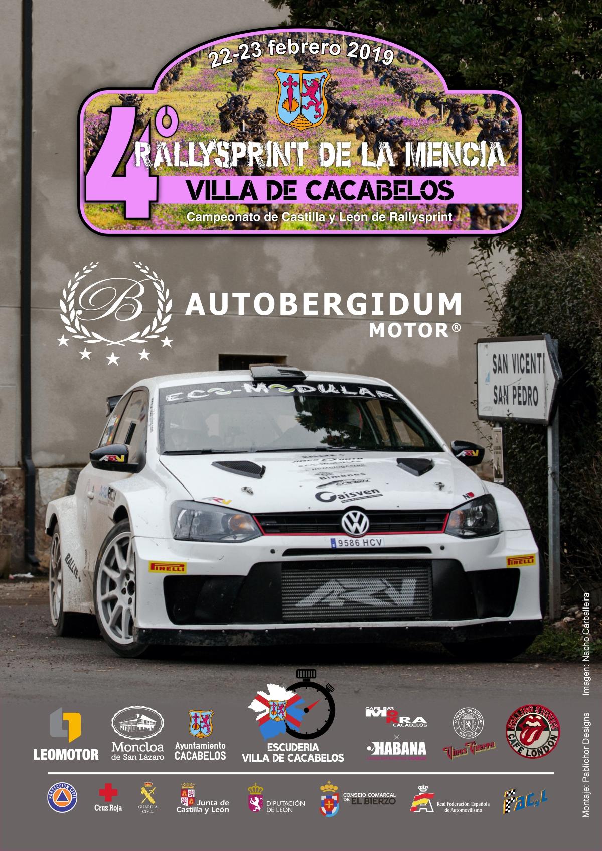 Cartel oficial del 4º Rallysprint de la Mencía
